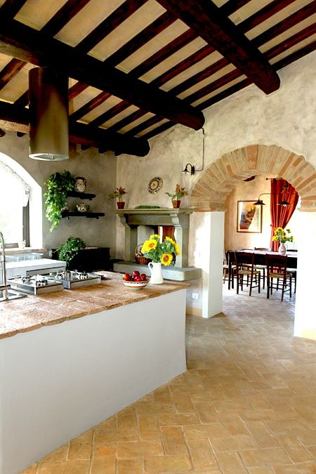 Pinterest - Tuscany Style Kitchen via Searching Hearts...amazing archways and countertops!!!