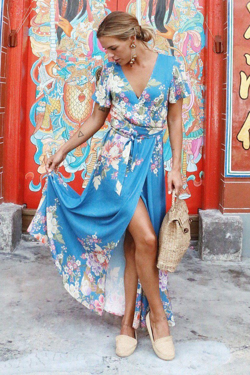 Spell Designs Blue Skies Wrap Maxi | Fashion We Love | Pinterest ...