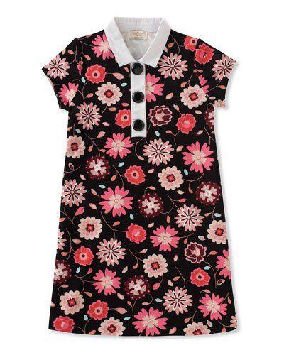 a0e3ec08e Kate Spade New York floral-print collared shift dress, size 2-6 ...