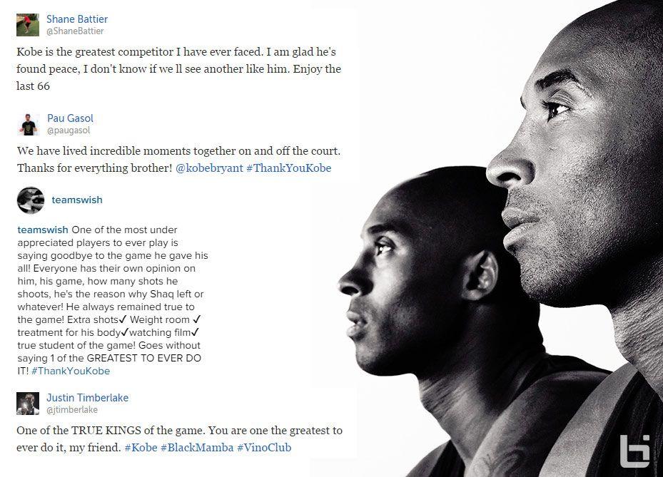 Nba Responds To Kobe Retirement News  Kobe Bryant