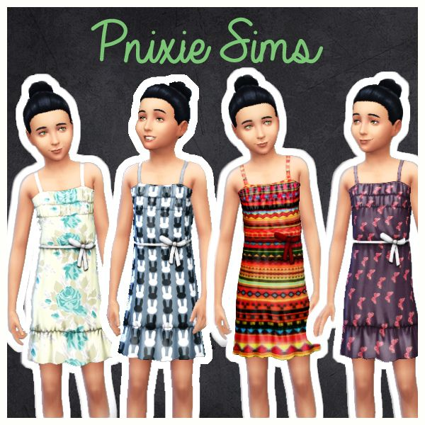 33eff0c487 sims 4 clothes custom content package children cute mods dresses dress kids  girl glitter native american buterffly flowers rabbit formal bow