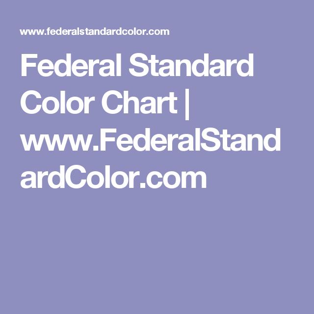 Federal Standard Color Chart Federalstandardcolor Design