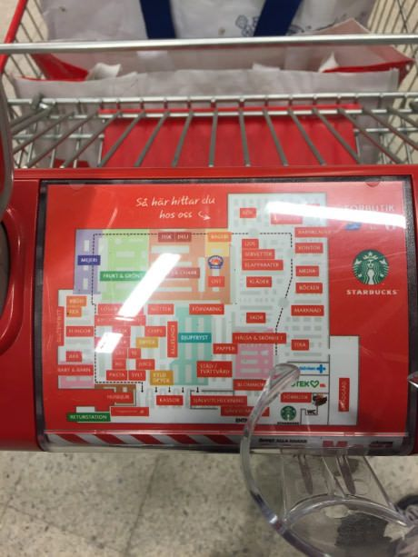 In Sweden We Have A Map On The Shopping Cart Telling Us Where We - Us map sweden