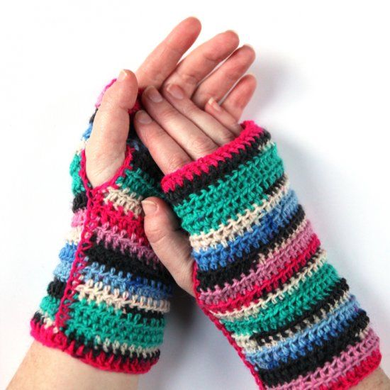 Easy Peasy Crocheted Fingerless Mittens Thanks So Xox Httpsuk