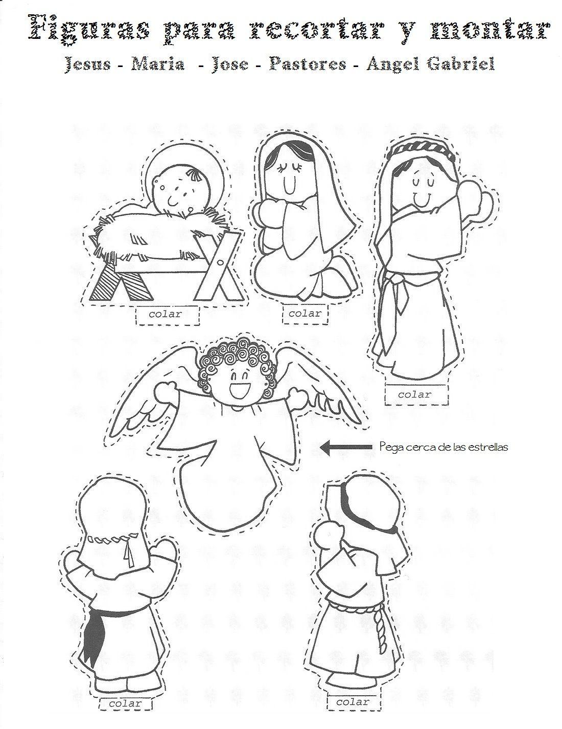 Blog Para Una Navidad Feliz Figuras Para Montar Un Nacimiento Nacimiento Para Colorear Actividades De Navidad Navidad Preescolar