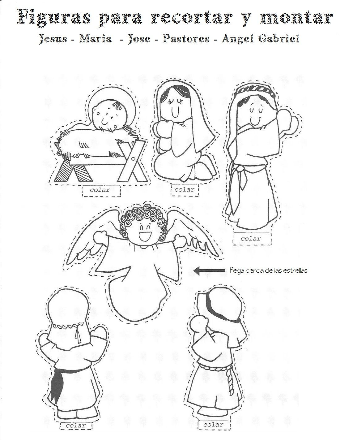 Figuras para montar un Nacimiento 1-2 | Nadal | Pinterest ...