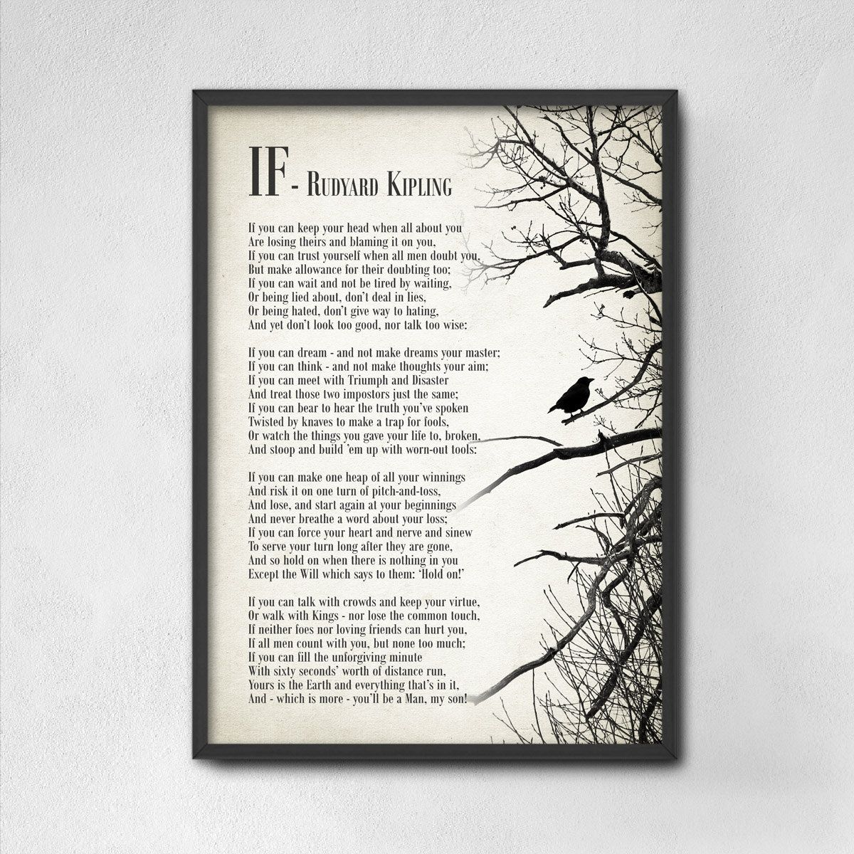 image about If by Rudyard Kipling Printable identify IF By means of RUDYARD KIPLING Poetry If rudyard kipling