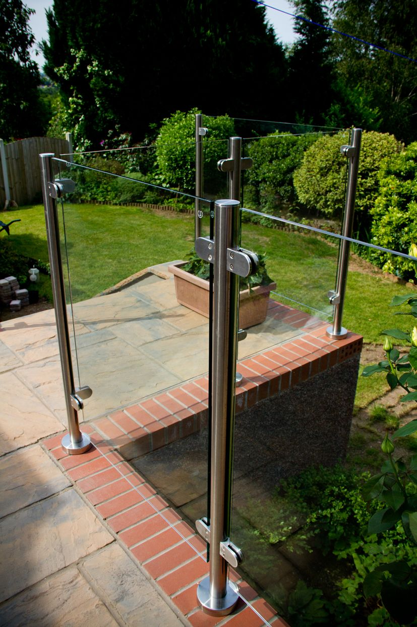 Glass Railing System Glass Balcony Glass Railing: Glass Balustrade Installation In Cwmbran, South Wales