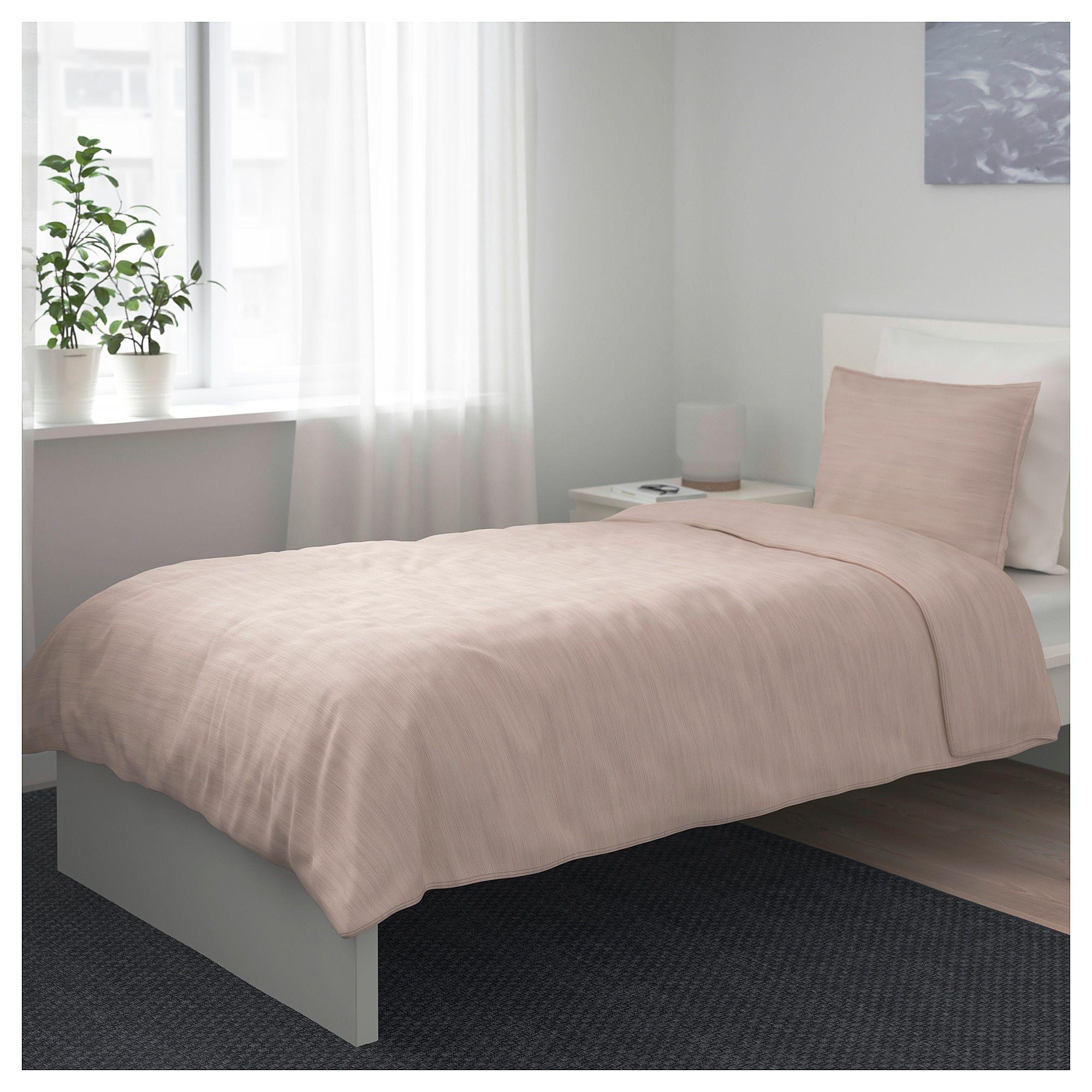 IKEA SKOGSALM Duvet cover and pillowcase(s) pink Red