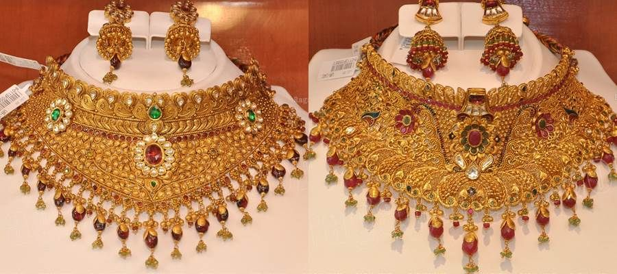 Kazana Gold Jewellery Collections Necklace designs Choker