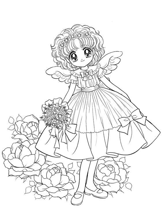 Pin By Javiera Hidalgo On Coloriage Shojo Cute Coloring Pages Coloring Pages Princess Coloring Pages