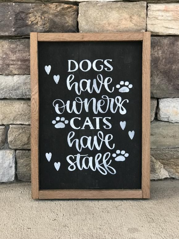 A cute sign for cat lovers. Measures 15 1/2