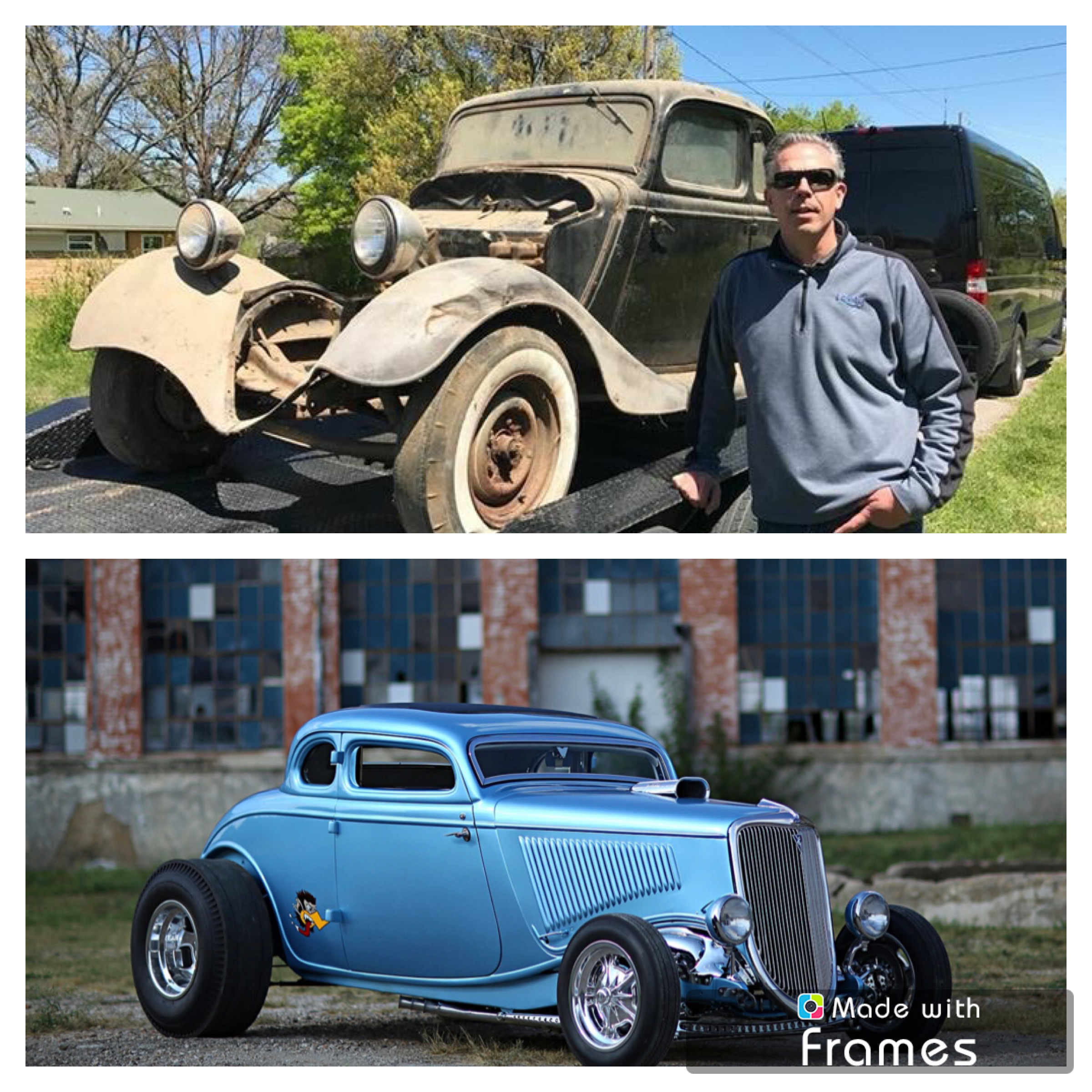 gas monkey garage style before and after of my life long friend adrian hope s dad s car as seen. Black Bedroom Furniture Sets. Home Design Ideas