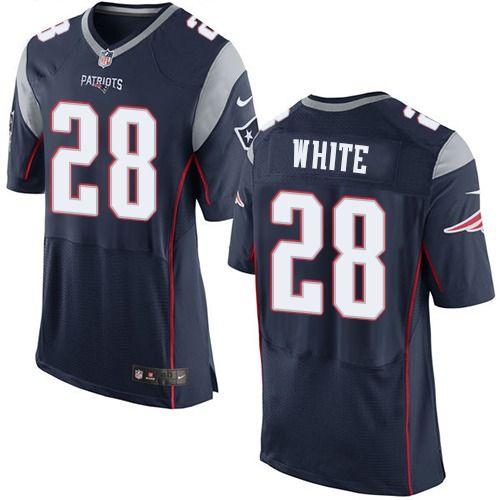 $24.99 Nike Elite James White Navy Blue Men's Jersey - New England ...