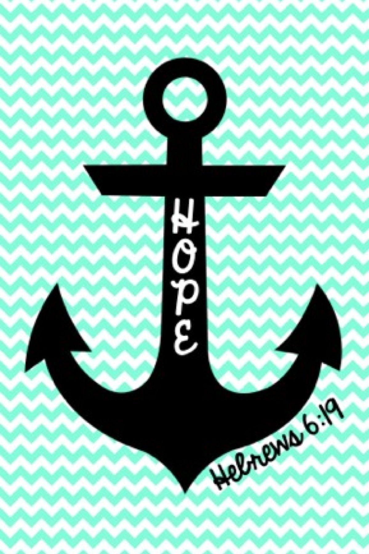 cute anchor on chevron wallpaper�� home decor