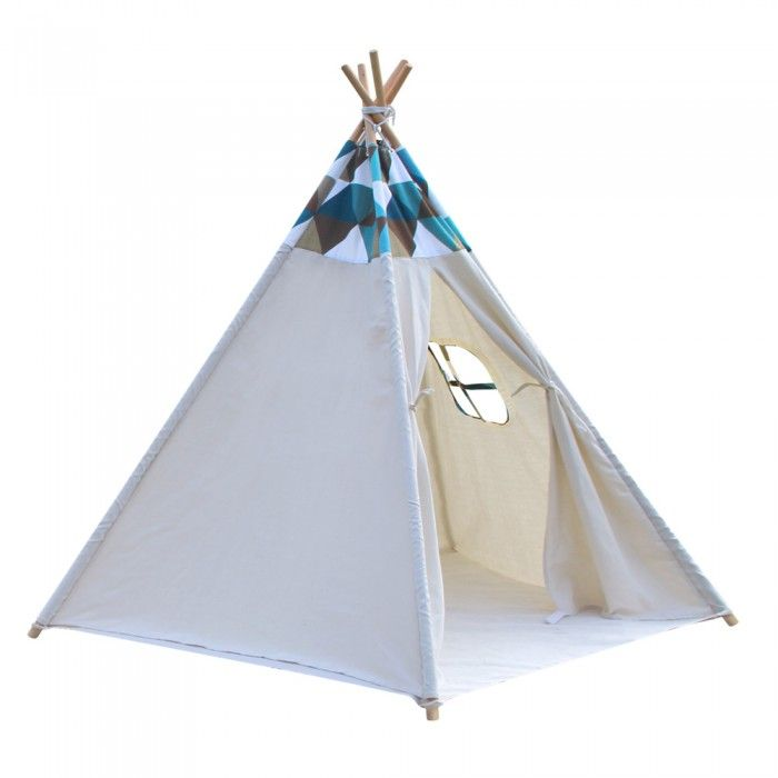 Kids Teepee Tent 5 Poles - White Patch  sc 1 st  Pinterest : patch tent - memphite.com