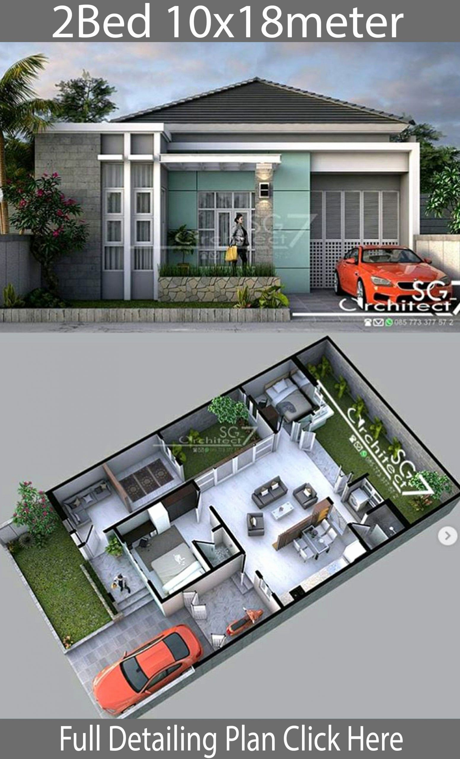 2 Bedroom House Design Ideas Inspirational 2 Bedrooms Home Design Plan 10 Small House Design Architecture House Architecture Design Small House Design Exterior
