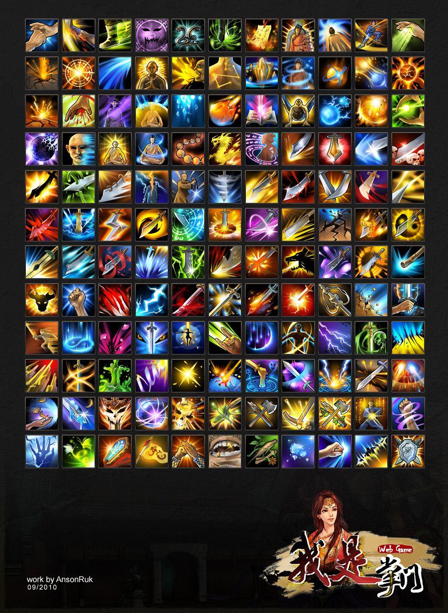 skill icons by ansonruk 게임 아이콘, 전투