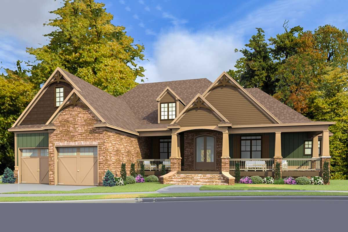 Plan 86297HH: Stunning Craftsman Home Plan with Optional Lower Level #craftsmanstylehomes