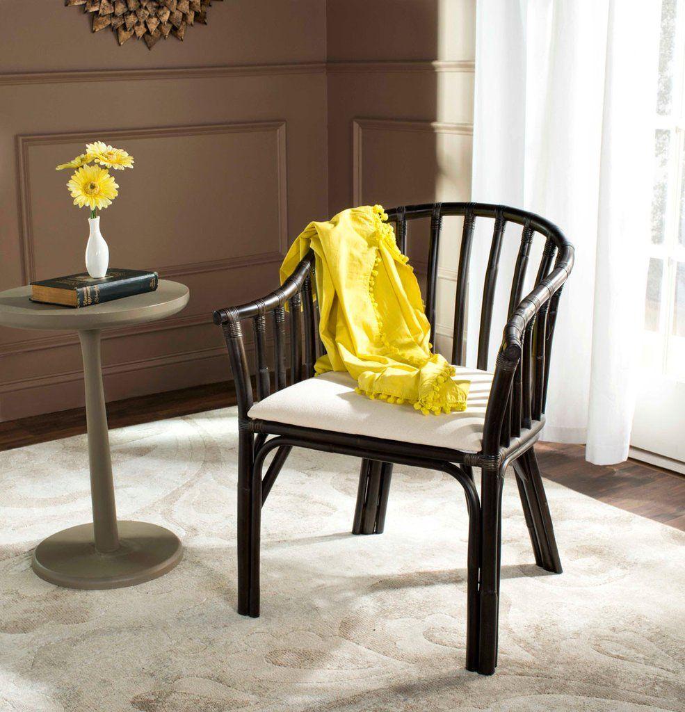 Safavieh Gino Arm Chair Wood arm chair, Chair, White