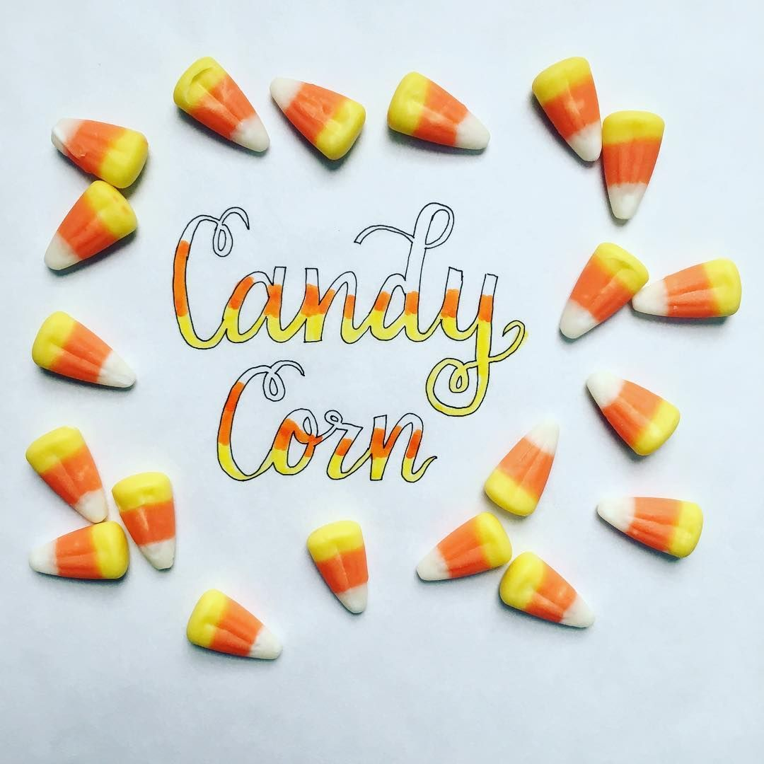 Happy National Candy Corn Day Lettering Handlettering Calligraphy Thewriteaesthetic Moderncalligraphy In 2020 Candy Corn Crayola Markers Floral Wreath Drawing