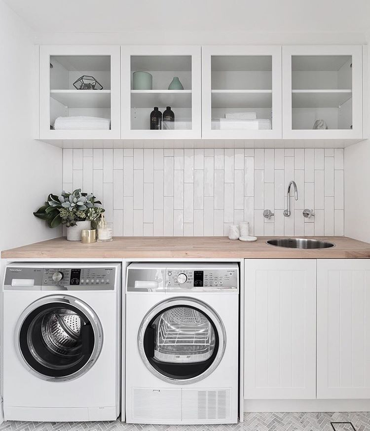Clean Simple Modern Laundry Rooms Laundry Room Design