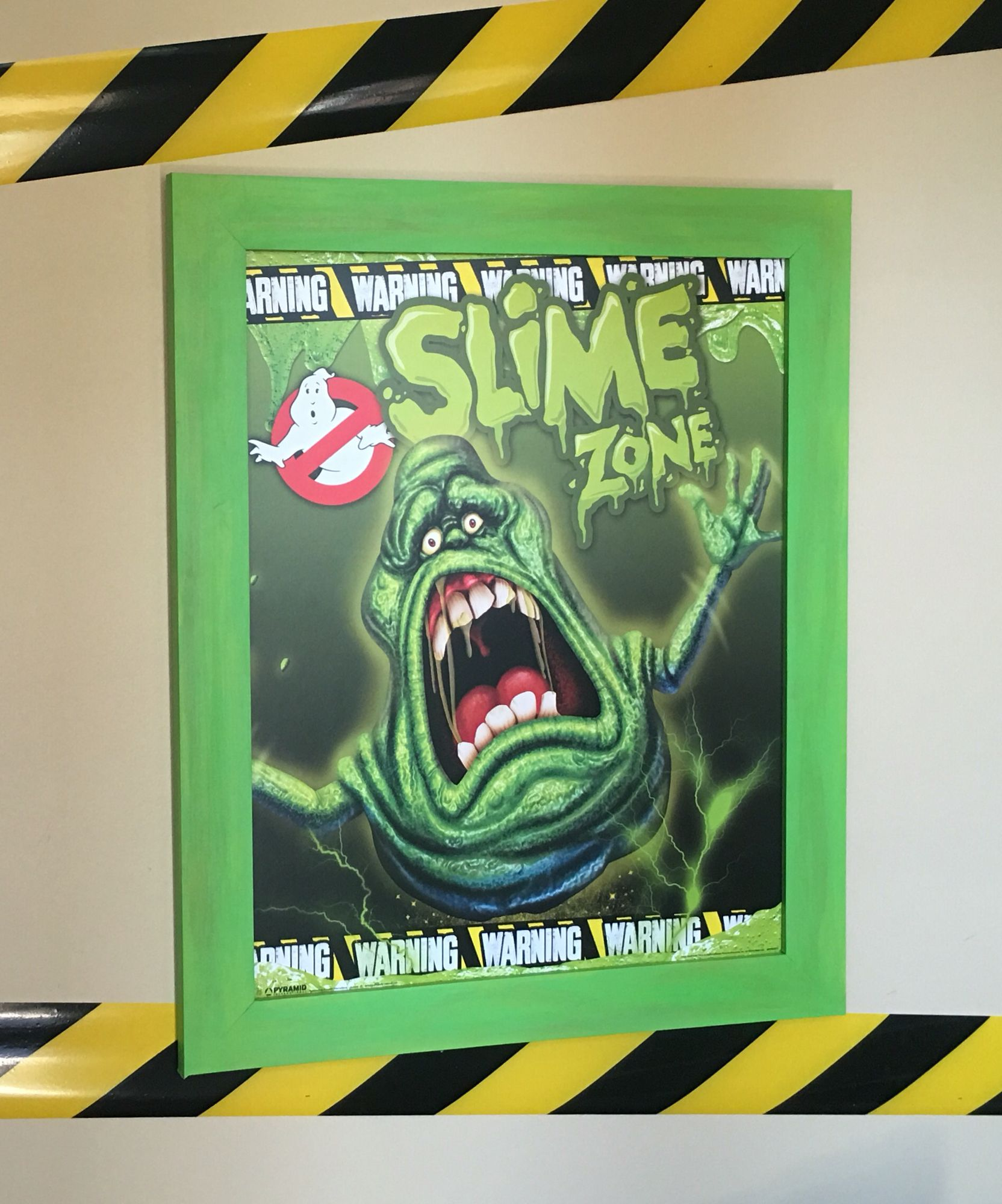 Ghostbusters Party Slime Zone Poster. Painted 16x20 wood frame from ...