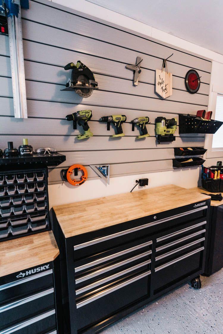Our Garage Workshop Reveal Garage Workshop Man Cave Home Bar Garage