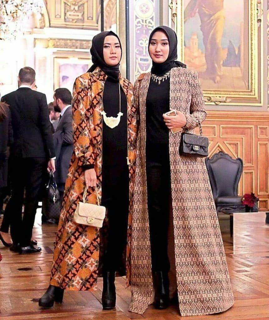 Desain Baju Gamis Batik Remaja Modern di 8  Pakaian wanita