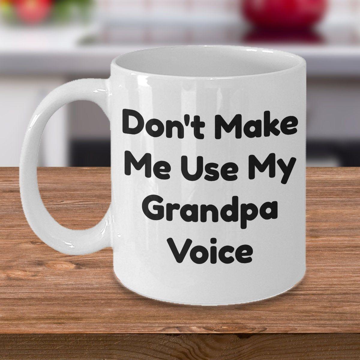 Funny Coffee Mug For Grandpa, Fathers Day Gift For Grandpa, Birthday Gift For Grandpa From Grandkids, Gift For Grandfather, New Grandpa Gift