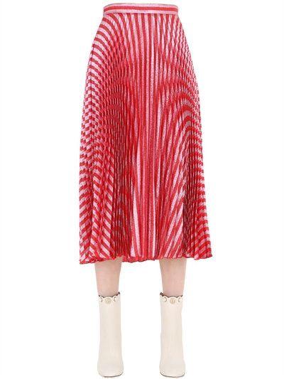 e6b028b165ba3 GUCCI Plisse Lurex Midi Skirt