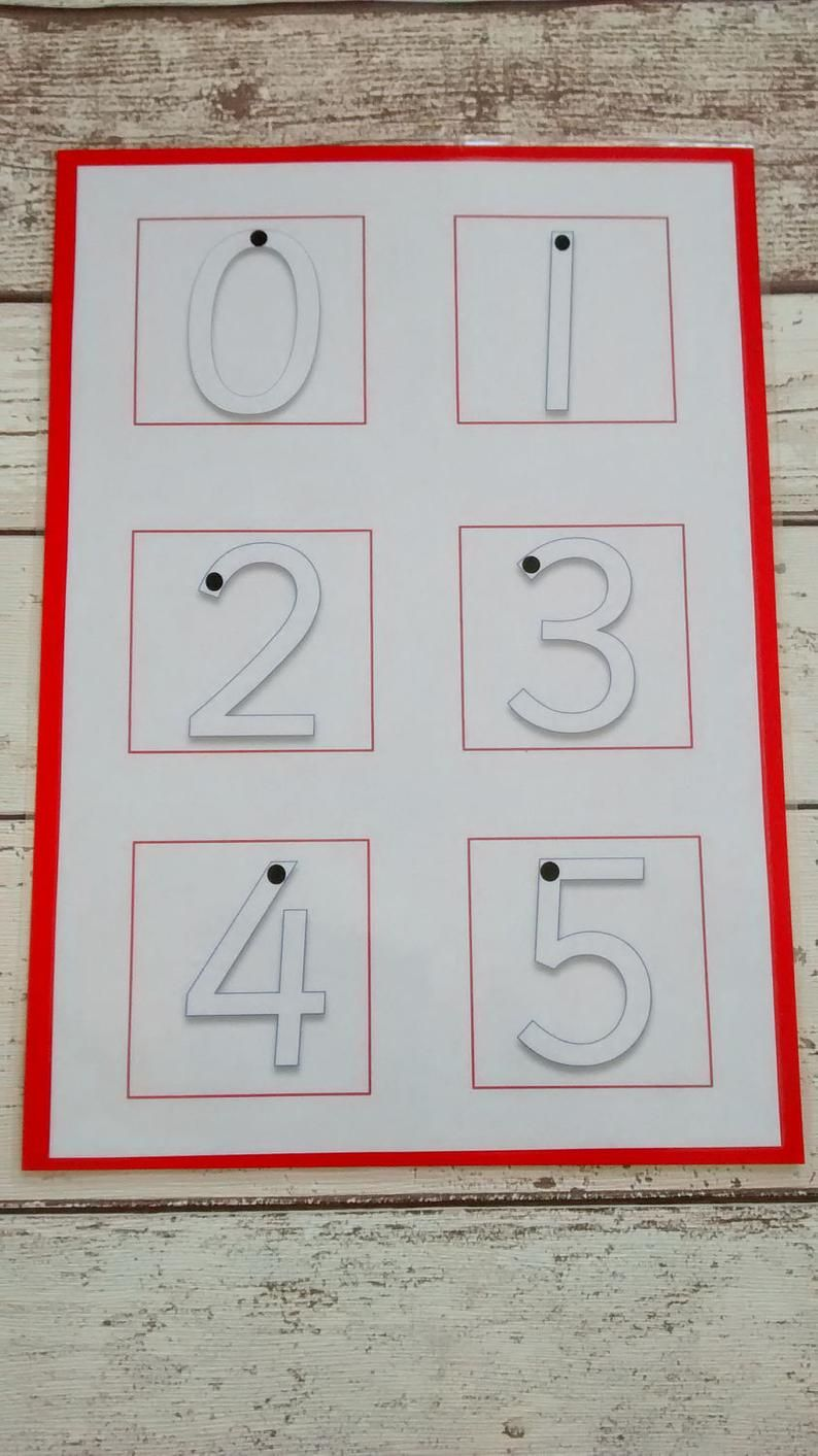 Learn to write number boards handwriting practice number