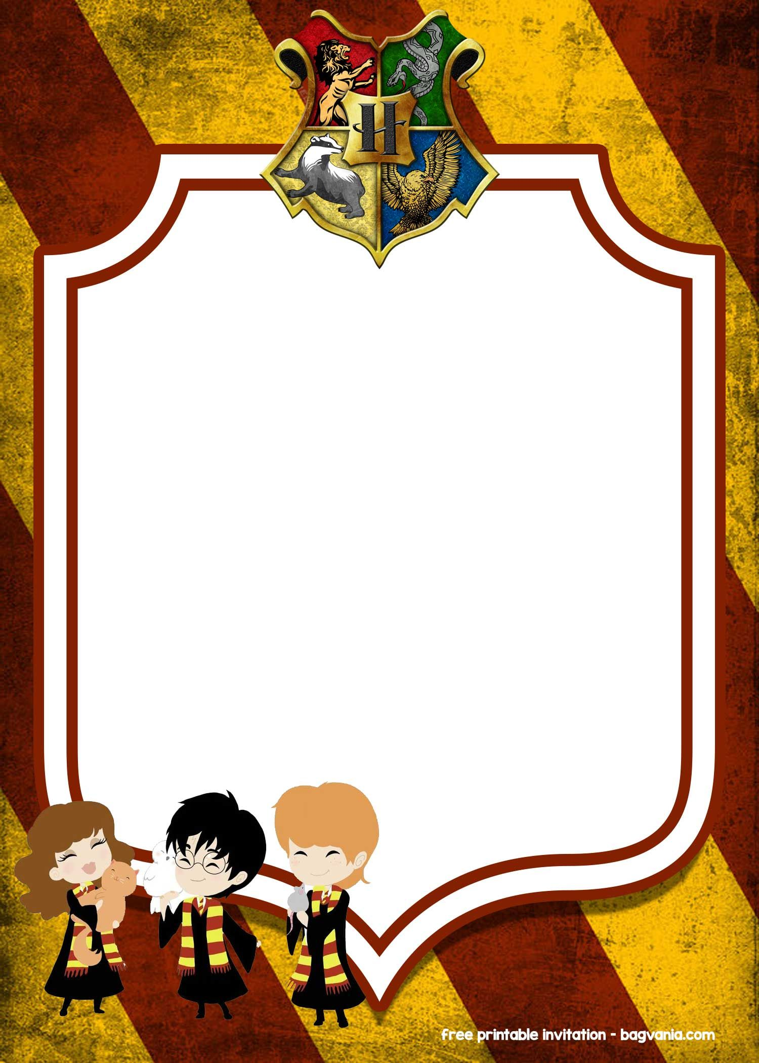 Free Printable Harry Potter Invitation Templates Harry Potter