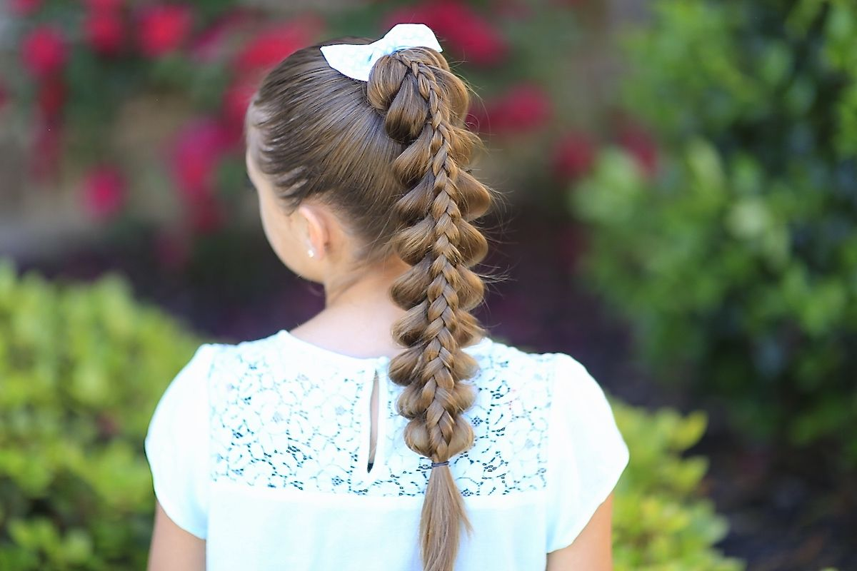 Pretty Hairstyles With Braids: Stacked Pull-Through Braid And More Hairstyles From