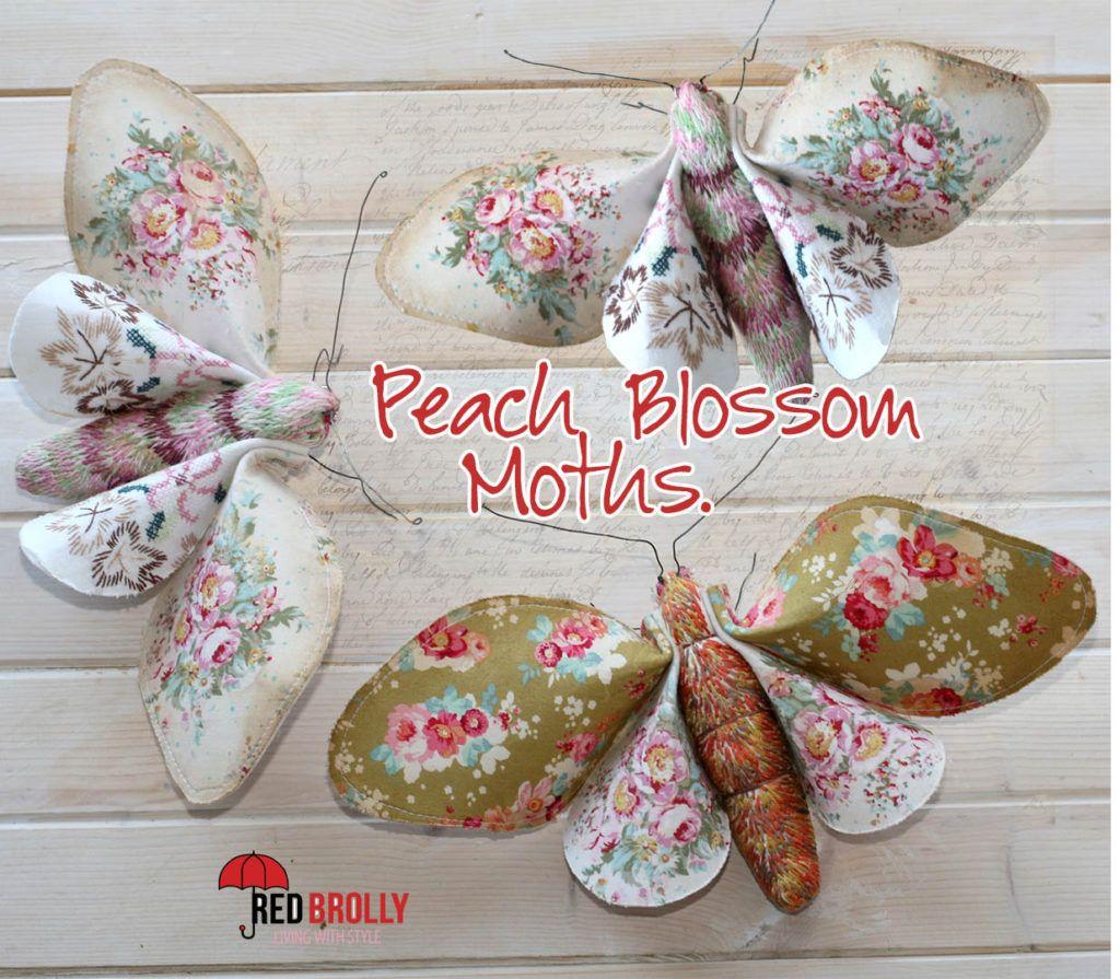 Peach Blossom Moths DIY from Red Brolly