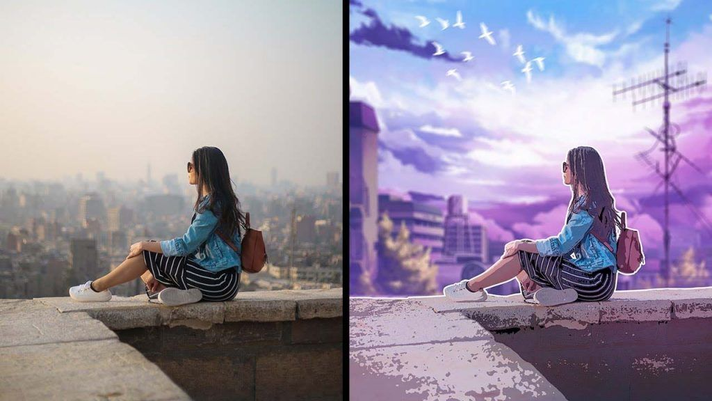 How to turn photo into anime style effect
