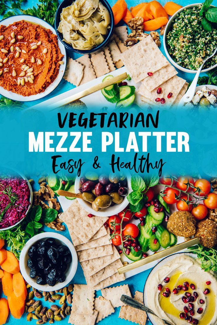 Healthy Mezze Platter with Hummus & Lavash What to Use Vegetarian Mezze Platter Appetizer with Hummus, Falafel, Pita Bread, Lavash, Muhamara Dip, Olives and More!