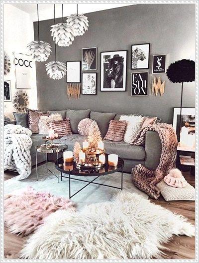 black couch living room decor farmhouse living room decor ...