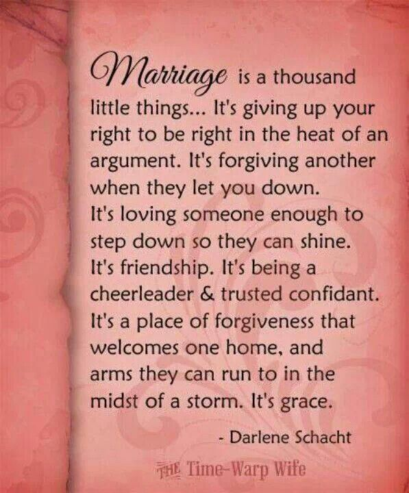 Marriage is a thousand little things | Relationships, Wisdom and ...