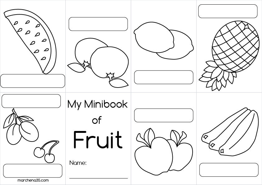 coloring pages las frutas spanish - photo#47