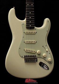 LA Music Custom Guitars Fender John Mayer Stratocaster Olympic White Artist Series Electric Guitar 0119700805