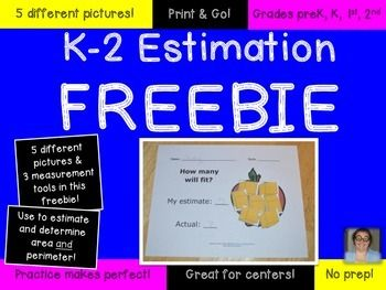 FREE Estimation Worksheets for K-2 {Great for Math Centers} | HoJo's