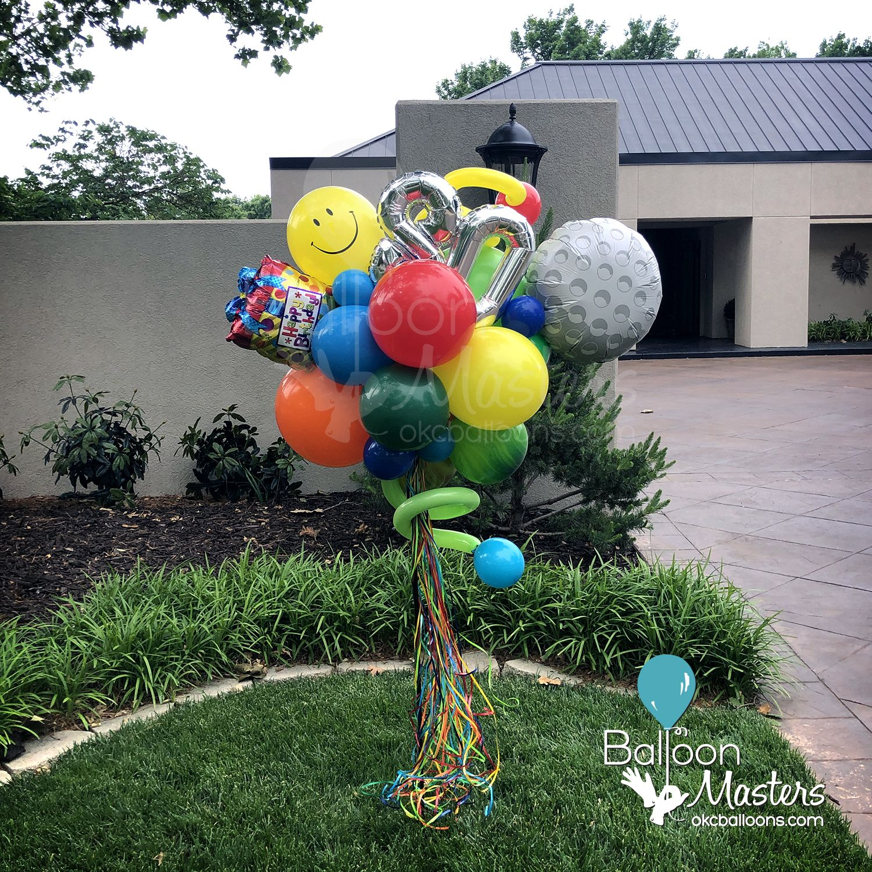 Balloon Celebration Yard Stake Birthday Balloons Balloon Art Yard Art