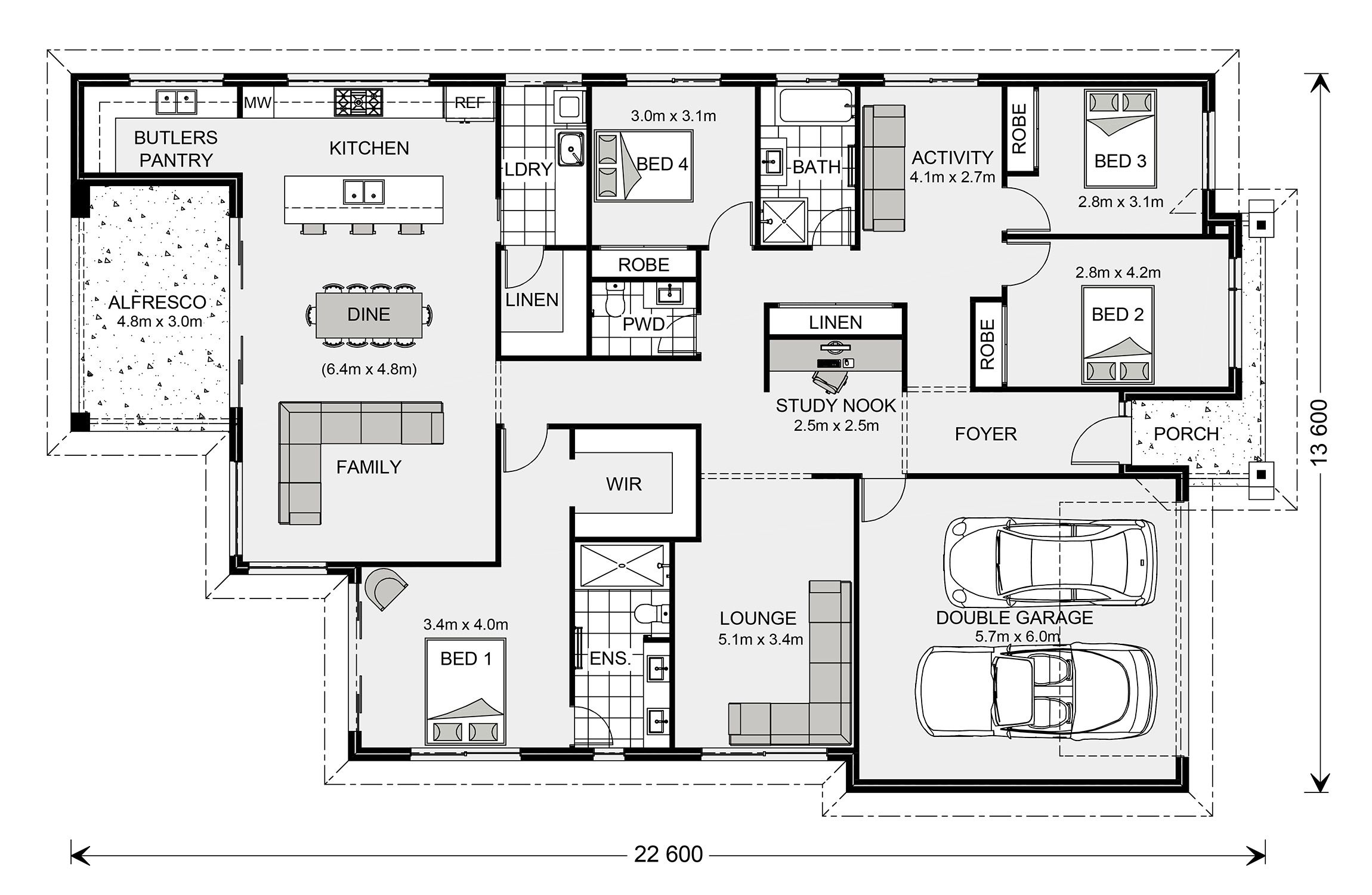 Floor plan house plans craftsman custom homes home builders also martin in pinterest design and rh