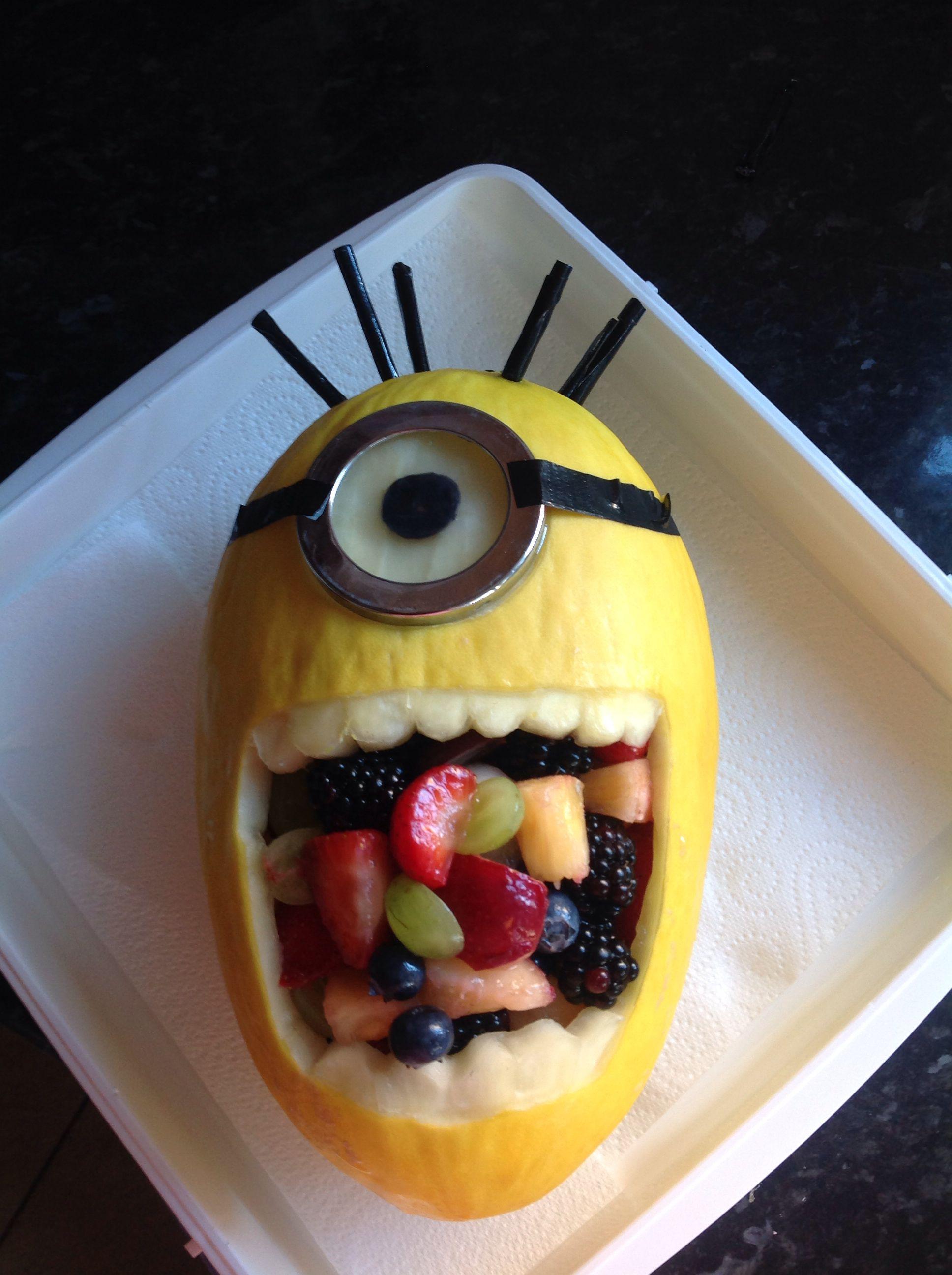 Made The Minion Fruit Salad Recipes Minion Birthday