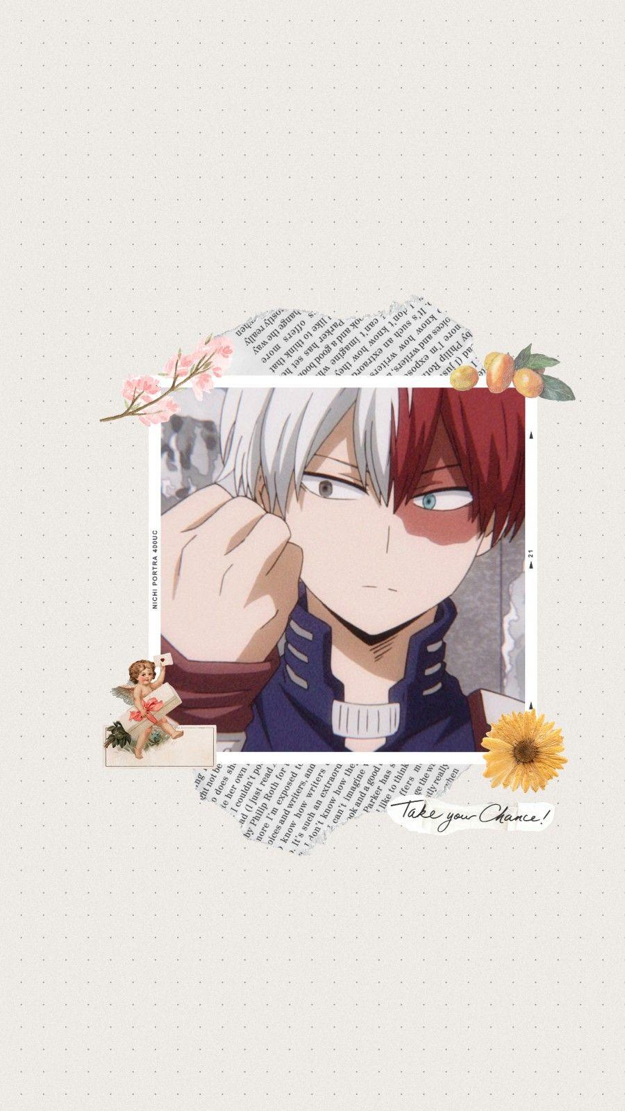 Todoroki Aesthetic Wallpaper Cute Anime Wallpaper Hero Wallpaper Aesthetic Anime