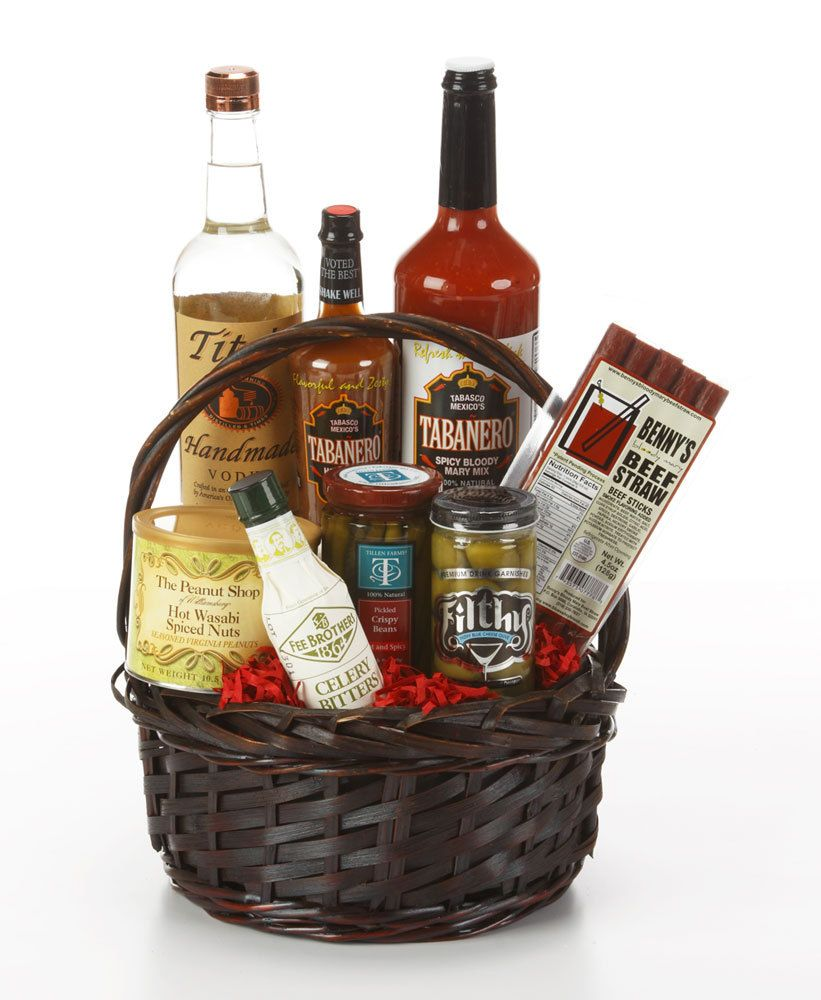 bloody mary gift basket with vodka