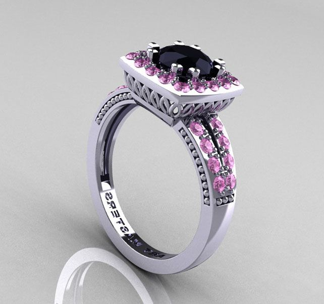 black and pink diamond engagement rings | Jewelry | Pinterest ...