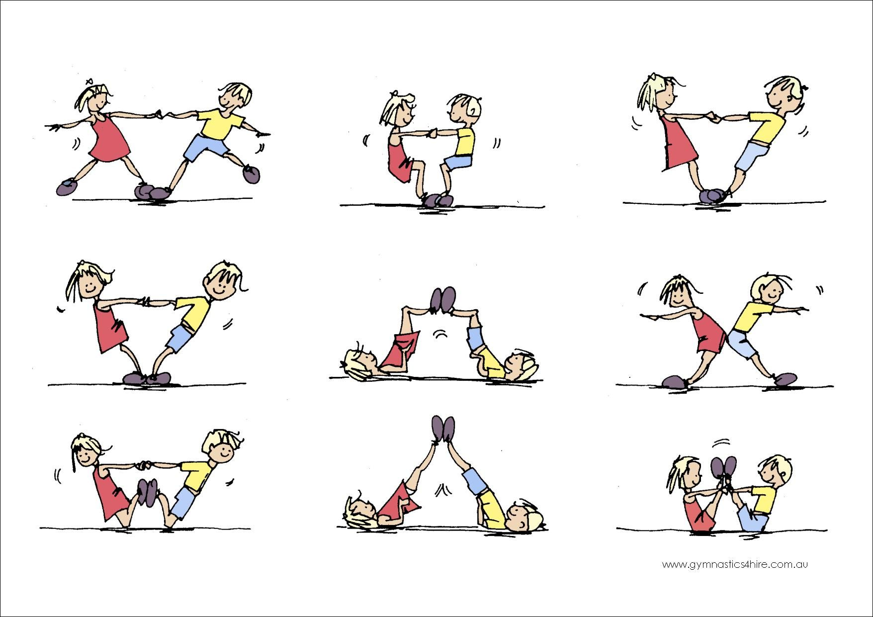 gymnastics partner balance activities - Google Search (con ...