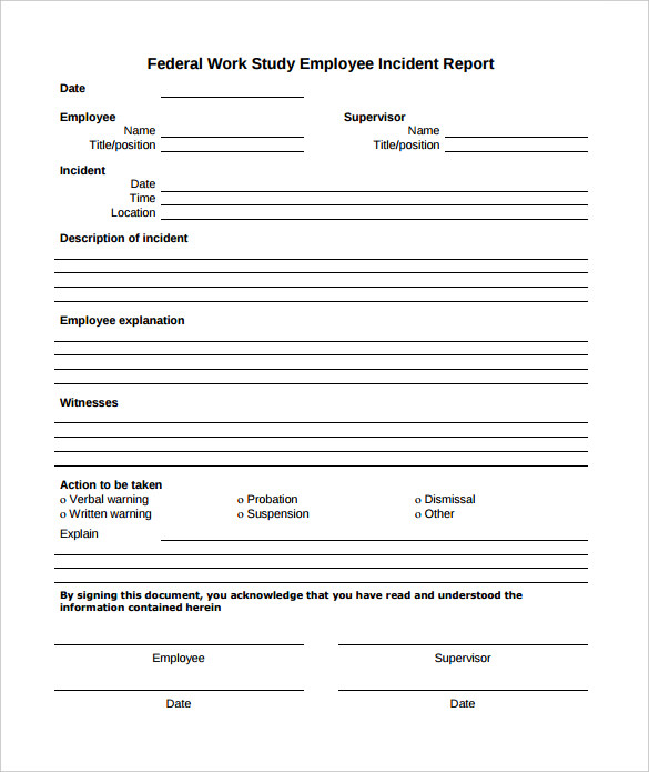Incident Report Form Template Word 2 Templates Example Templates Example
